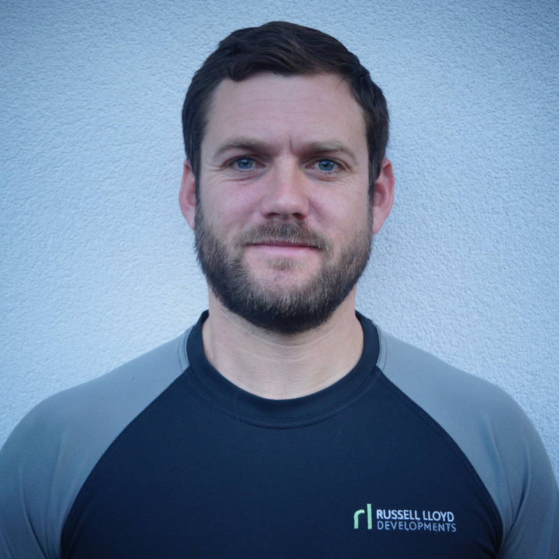 profile image of David Evans wearing Russell Lloyd Evans branded t-shirt